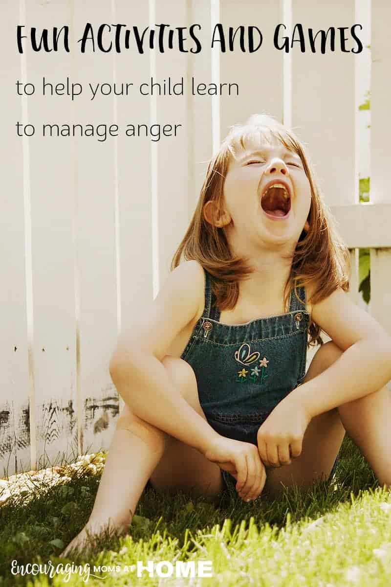 Managing anger is a learning skill.  As parents we can help our kids with their feelings of anger with activities, games and more that will help them respond to anger appropriately.