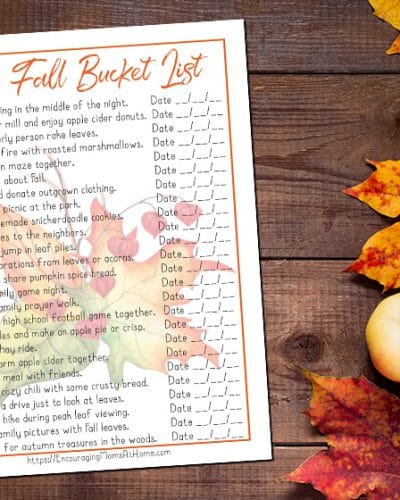 Fall Bucket List for Christian Families who Don't Celebrate Halloween