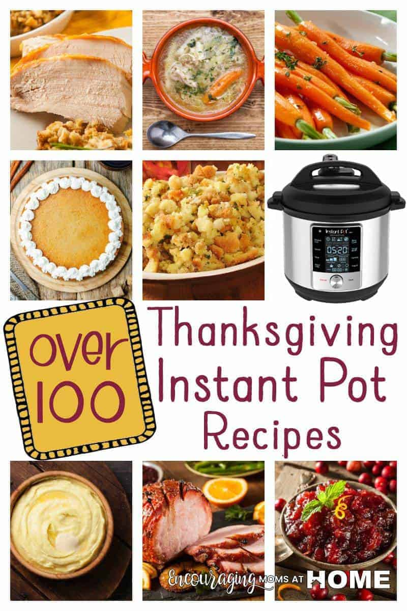 Instant Pot Thanksgiving Recipes your whole family will love. We've got over 100 IP recipes for everything turkey and ham , to mashed potatoes and sweet potatoes and cranberry sauce, to Instant Pot pumpkin desserts, non-pumpkin and so many Instant Pot Thanksgiving Side dishes. Plus lots of ways to use leftover turkey in the IP. #instantpot #instantpotthanksgiving