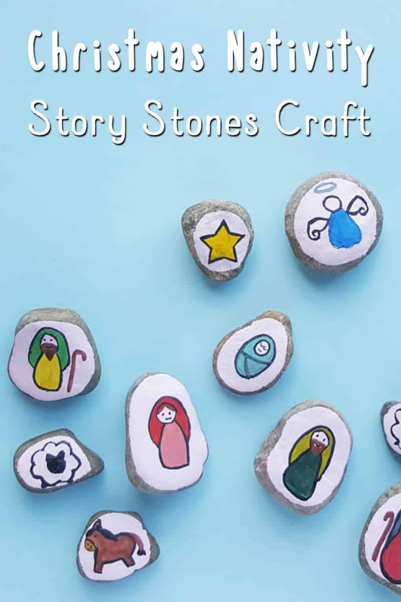Help tell the nativity story to young children, and have your older children make these lovely Christmas nativity story stones craft.