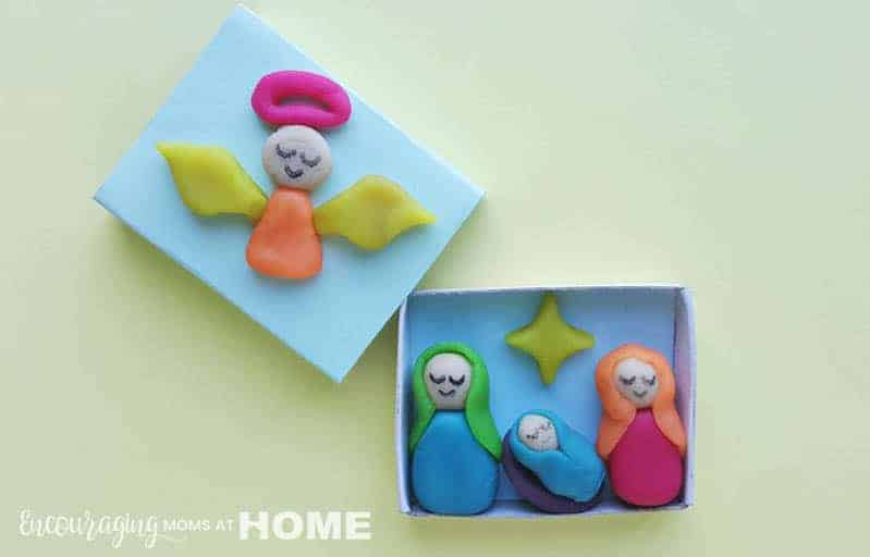 Clay Nativity In A Matchbox Christmas Craft For Kids