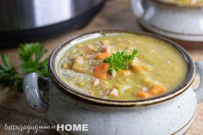 The Best Instant Pot Split Pea and Ham Soup - and easy and fast meal in your pressure cooker. Just your IP, this soup, and some crusty bread to go along!